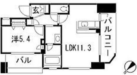 ドゥーエ新川 / 12階 部屋画像1