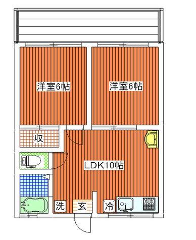 都立大ハイツ / 2階 部屋画像1