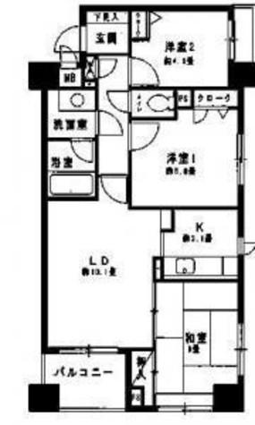 コンフィール日本橋アクアシティ / 3階 部屋画像1