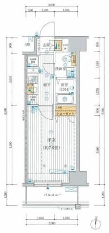 プレール・ドゥーク東雲 / 6階 部屋画像1