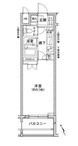 ファミール銀座EAST / 2階 部屋画像1