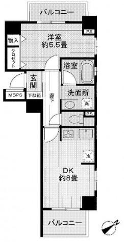 ライオンズプラザ東麻布 / 8階 部屋画像1