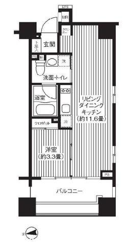 コスモグラシア芝大門 / 702 部屋画像1