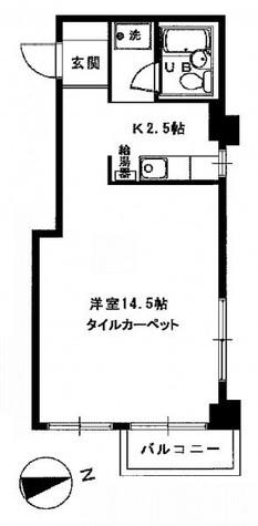 広尾 2分マンション / 3階 部屋画像1