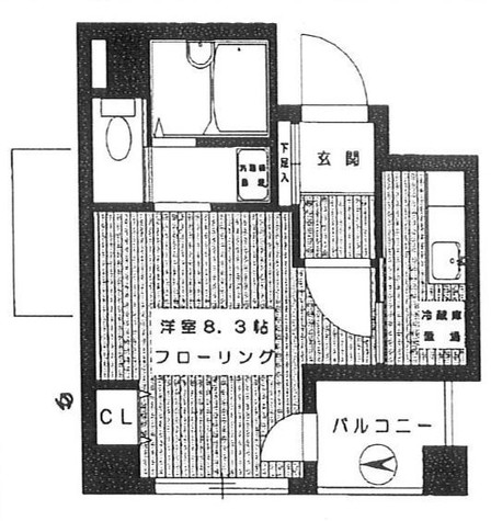 メゾンドコート八丁堀 / 202 部屋画像1