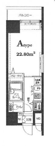 HF東神田レジデンス(旧エルミタージュ東神田) / 5階 部屋画像1