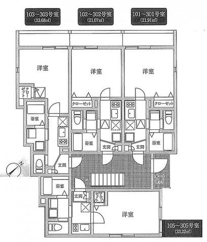 UNISON神宮前(ユニゾン神宮前) / 302 部屋画像1