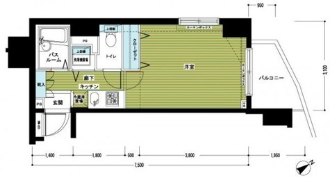 トーシンフェニックス新横濱イクシール / 7階 部屋画像1