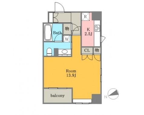 レガーロ銀座イーストⅡ / 4階 部屋画像1