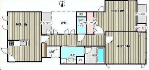 ラ・リュエル笹塚 / 202 部屋画像1