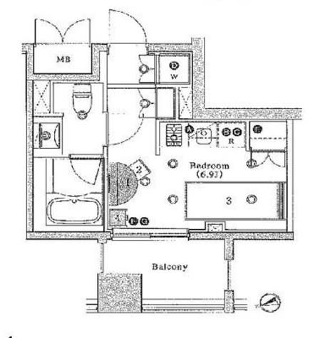 アパートメンツ銀座東 / 10階 部屋画像1