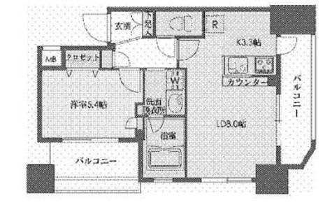 ドゥーエ新川 / 7階 部屋画像1