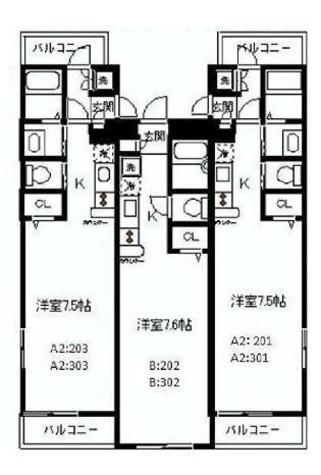 ホワイトジンファンデル神楽坂(WhiteZinfandel神楽坂) / 301 部屋画像1