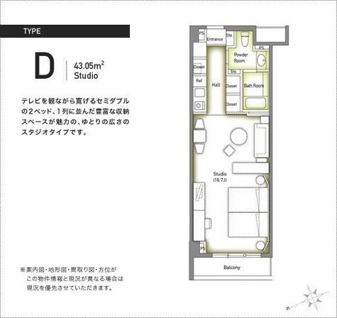 六本木デュープレックスM's / 4階 部屋画像1