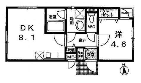 リュミエール・K / 1階 部屋画像1
