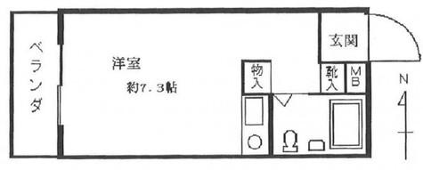 第七小崎ビル / 203 部屋画像1