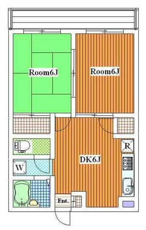 ヒルサイドハウス / 303 部屋画像1