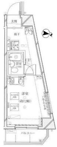 プレール・ドゥーク代々木八幡 / 7階 部屋画像1