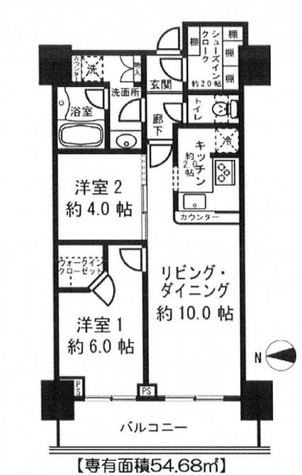 勝どきビュータワー / 9階 部屋画像1