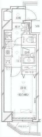 プレール・ドゥーク代々木八幡 / 3階 部屋画像1
