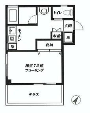 第8三和マンション / 202 部屋画像1