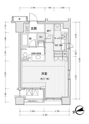 レガーロ銀座イーストⅡ / 12階 部屋画像1