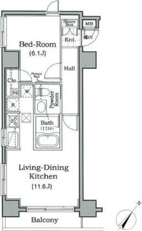 レジディア月島Ⅲ / 6階 部屋画像1