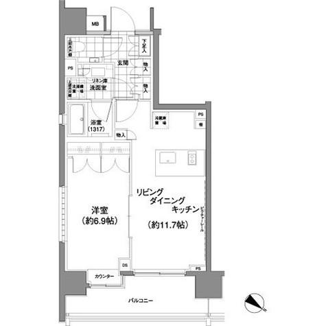 パークハビオ渋谷神山町 / 4階 部屋画像1