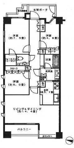 クレマージュ南青山 / 2階 部屋画像1
