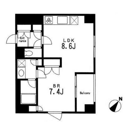 アパートメンツ目黒行人坂 / 412 部屋画像1