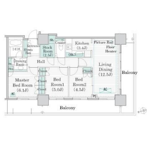 リエトコートアルクスタワー / 8階 部屋画像1