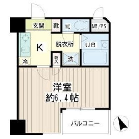 クレール本町 / 4階 部屋画像1
