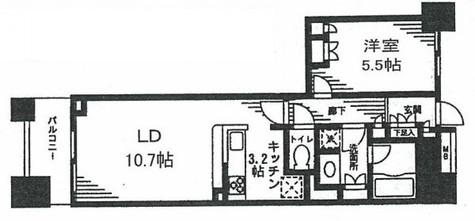 レジディア日本橋馬喰町 / 3階 部屋画像1