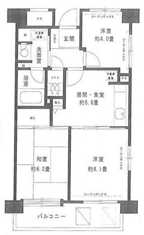 フレスコ川崎 / 10階 部屋画像1