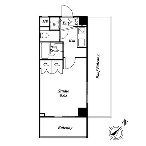 スペーシア三軒茶屋弐番館 / 6階 部屋画像1