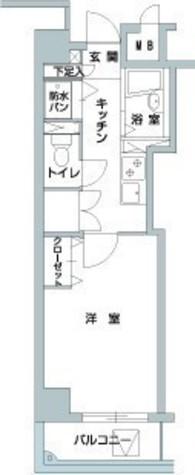メゾン・ド・ヴィレ八丁堀 / 705 部屋画像1
