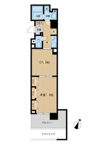 Daffitto横濱台町(旧ベルフェリーク横濱台町) / 101 部屋画像1
