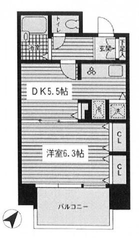 VIDA日本橋EAST(ヴィーダ日本橋イースト) / 203 部屋画像1