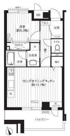 新御茶ノ水アーバントリニティ / 12階 部屋画像1