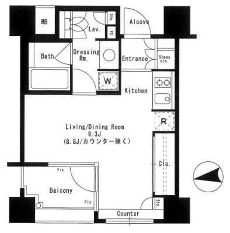 パークアクシス神楽坂ステージ / 8階 部屋画像1