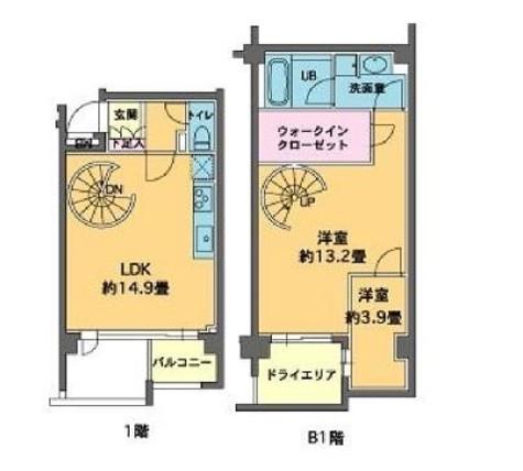 カスタリア八雲 / 1階 部屋画像1