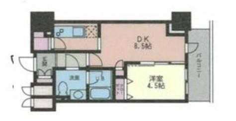 ドゥーエ幡ヶ谷(旧ウインベルプラザ幡ヶ谷) / 706 部屋画像1