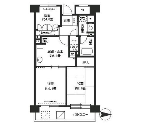 フレスコ川崎 / 4階 部屋画像1