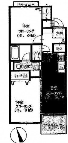サウスコート / 3階 部屋画像1