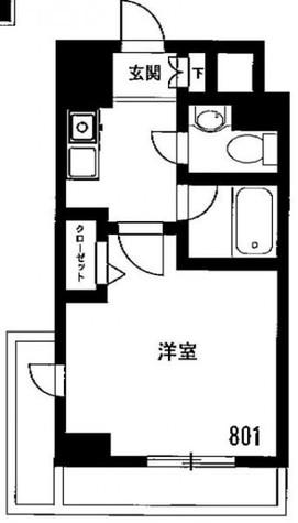 メゾン・ド・ヴィレ市ヶ谷 / 801 部屋画像1