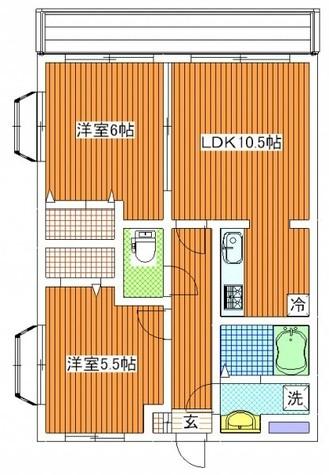 フレグランス / 4階 部屋画像1