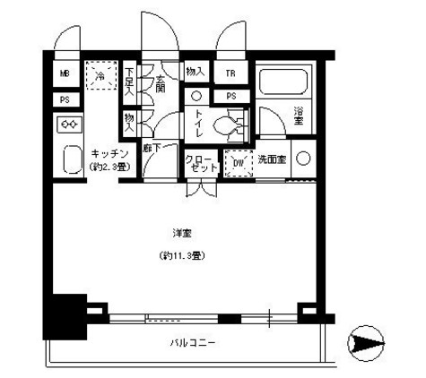 パークキューブ神田 / 9階 部屋画像1