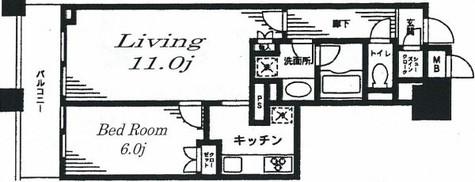 レジディア日本橋馬喰町 / 4階 部屋画像1