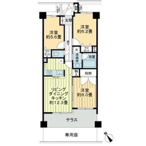 ライオンズガーデン尾山台 / 1階 部屋画像1