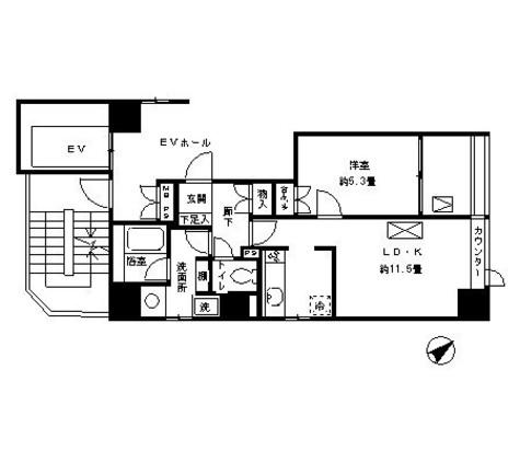 カルナ築地 / 301 部屋画像1